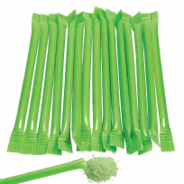 Lime Green Candy Filled Straws - Green Apple Flavour (240)